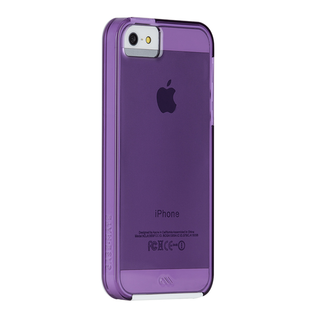 【iPhoneSE(第1世代)/5s/5 ケース】Hybrid Tough Naked Case (Shocking Violet/White)サブ画像