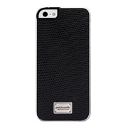【iPhoneSE/5s/5 ケース】Classique Snap Case Leather (Lizard Black)