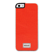 【iPhoneSE/5s/5 ケース】Classique Snap Case Leather (Lizard Orange)