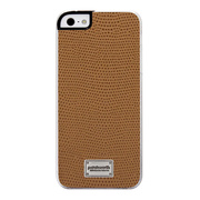 【iPhoneSE/5s/5 ケース】Classique Snap Case Leather (Lizard Tan)