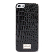 【iPhoneSE/5s/5 ケース】Classique Snap Case Leather (Croco Black)