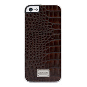 【iPhoneSE/5s/5 ケース】Classique Snap Case Leather (Croco Dark Brown)