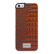【iPhoneSE/5s/5 ケース】Classique Snap Case Leather (Croco Tan)