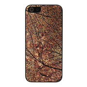 【iPhoneSE/5s/5 ケース】Metal case (Bronze Leaf)