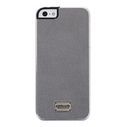 【iPhoneSE/5s/5 ケース】Classique Snap Case Ultra Suede Grey