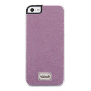 【iPhoneSE/5s/5 ケース】Classique Snap Case Ultra Suede Purple