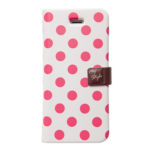 【iPhoneSE/5s/5 ケース】Style Dot (チェリー)