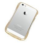【iPhoneSE/5s/5 ケース】CLEAVE ALUMINUM BUMPER Mighty2 (Urban Gold/Silver Metallic)【バンパー】