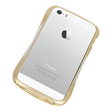【iPhoneSE/5s/5 ケース】CLEAVE ALUMINUM BUMPER Mighty2 (Urban Gold/Silver Metallic)