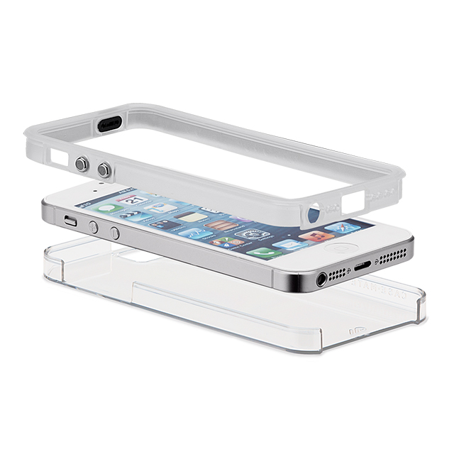 【iPhoneSE(第1世代)/5s/5 ケース】Hybrid Tough Naked Case (Clear/Clear)サブ画像