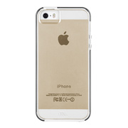 【iPhoneSE/5s/5 ケース】Hybrid Tough Naked Case  (Clear/White)
