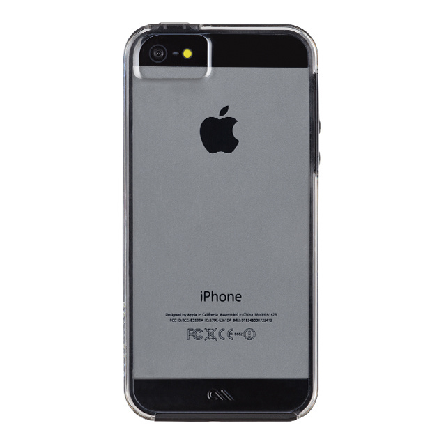 【iPhoneSE(第1世代)/5s/5 ケース】Hybrid Tough Naked Case (Clear/Black)