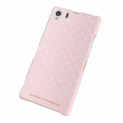 【XPERIA Z1 ケース】Xperia(TM) Z1/SOL23用シェルカバー for Girl ドット(ピンク)