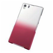 【XPERIA Z1 ケース】Xperia(TM) Z1/SOL23用シェルカバー/クリア×レッド