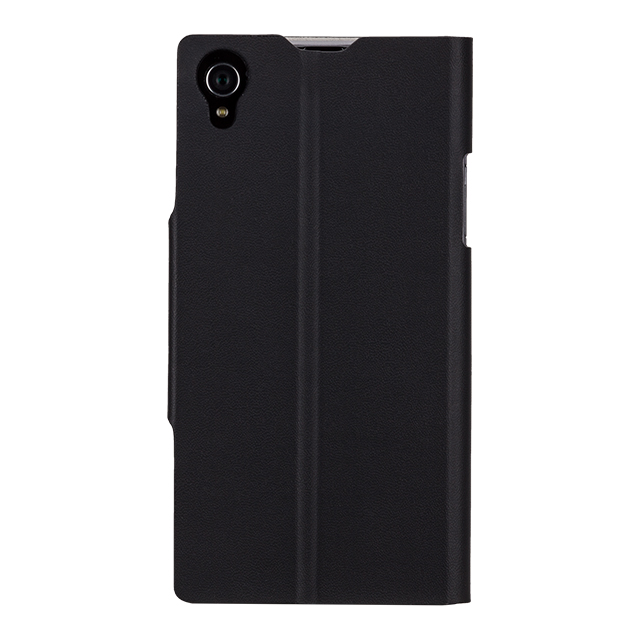 【XPERIA Z1 ケース】Slim Folio Case, Blackサブ画像