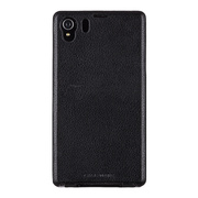 【XPERIA Z1 ケース】Signature Flip Case, Black
