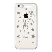 【iPhone5c ケース】CollaBorn デザインケース Danced Bone-CL
