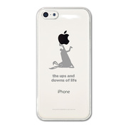 【iPhone5c ケース】CollaBorn デザインケース The rabbit which fell over