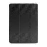 【iPad Air ケース】CarbonLook SHELL with Front coverfor iPad Air ブラック