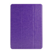 【iPad(9.7inch)(第5世代/第6世代)/iPad Air(第1世代) ケース】LeatherLook SHELL with Front cover Violet
