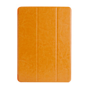 【iPad(9.7inch)(第5世代/第6世代)/iPad Air(第1世代) ケース】LeatherLook SHELL with Front cover Honey Brown