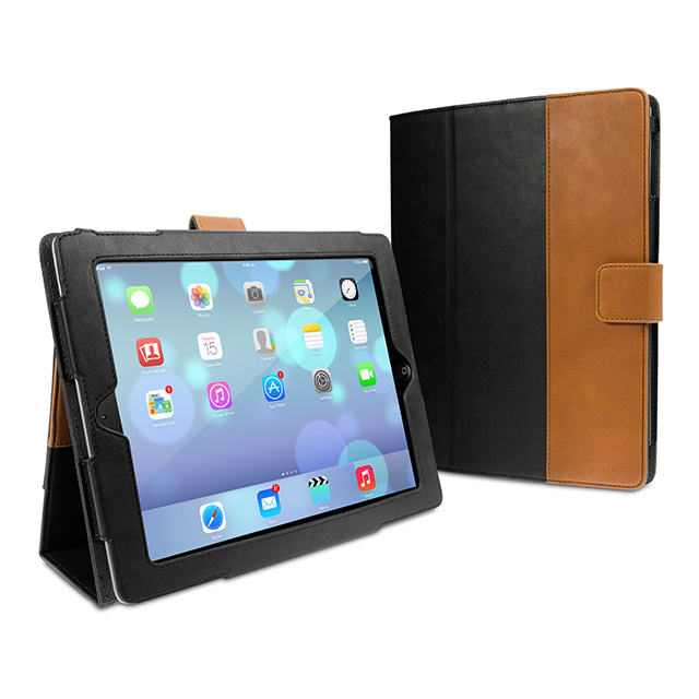 【iPad Air(第1世代) ケース】Vintage Classic tailored folio case Black/Tan