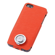 【iPhoneSE/5s/5 ケース】Multi Function Design Case (Orange Pink)
