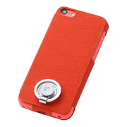 【iPhone5c ケース】Multi Function Design Case Orange Pink