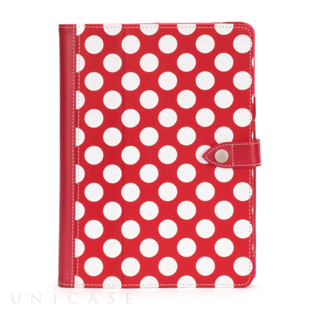 【iPad Air(第1世代) ケース】Back Bay Polka Folio Case Red/White/Pink