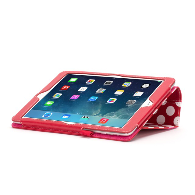 【iPad Air(第1世代) ケース】Back Bay Polka Folio Case Red/White/Pinkサブ画像