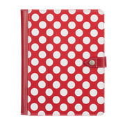 【iPad mini3/2/1 ケース】Back Bay Polka Folio Case Red/White/Pink