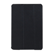 【iPad mini2/1 ケース】CarbonLook SHELL with Front cover for iPad mini カーボンブラック