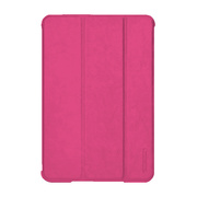 【iPad mini2/1 ケース】LeatherLook SHELL with Front cover for iPad mini ローズピンク