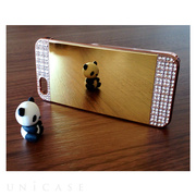 【iPhoneSE(第1世代)/5s/5 ケース】Luxury Bling Mirror Case (Gold)