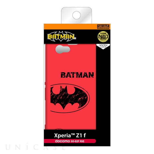 【XPERIA Z1 f ケース】シリコンジャケット/バットマン