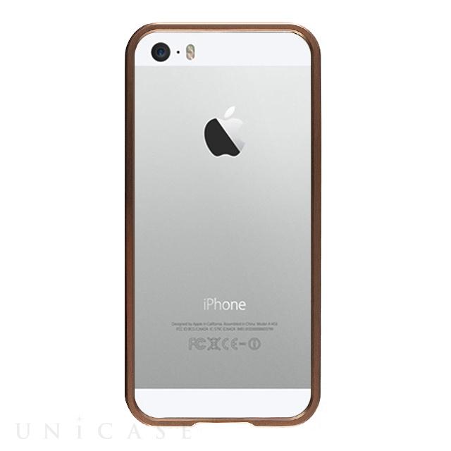 b8495e2601 ... 【iPhoneSE/5s/5 ケース】金属製フレーム ローズゴールド/ローズゴールド ...