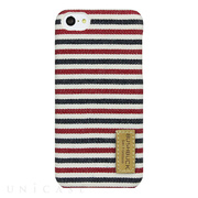 "【iPhone5c ケース】ハードシェルデニム仕上げケース Tour Fabric Case ""Middle Red"" IP5CTR01"