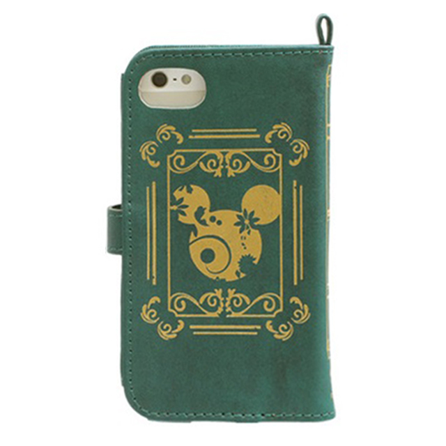 【iPhoneSE/5s/5c/5 ケース】ディズニーキャラクター/Old Book Case (ミッキー&ミニー/モスグリーン)goods_nameサブ画像
