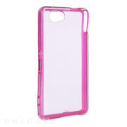 【XPERIA Z1 f ケース】Hybrid Tough Naked Case, Clear/Clear Pink