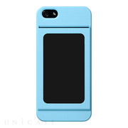 【iPhone5s/5 ケース】Bluevision OsaifuSlim for iPhone 5s/5 Light Blue