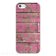 【iPhoneSE/5s/5 ケース】WOOD Hawaiian Pink