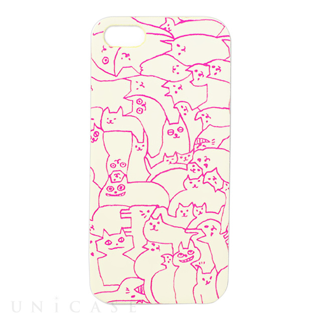 【iPhoneSE/5s/5 ケース】iPhone Case NEKO PUZZLE WH S