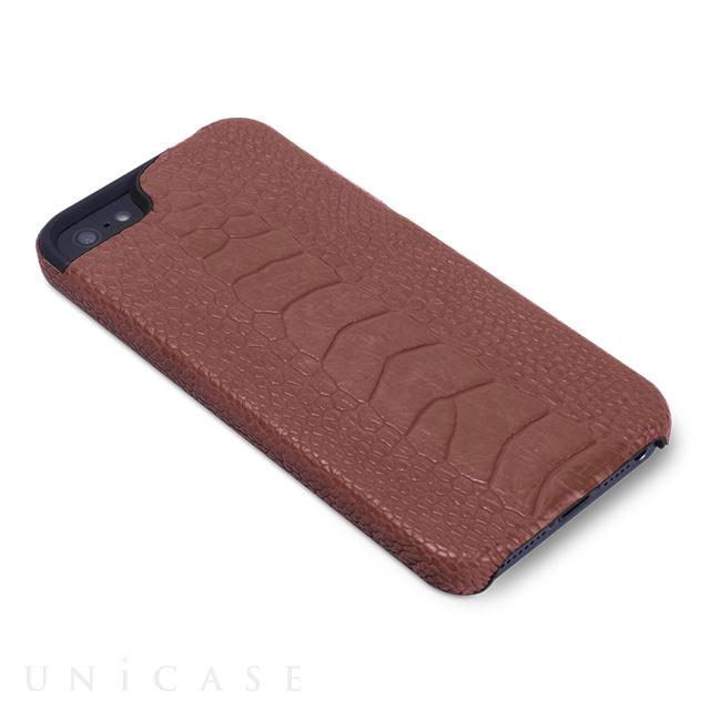 e954d7e9b66c ... 【iPhone5s/5 ケース】動物皮モンスターケース Monster-Ostrich ダークブラウン ...