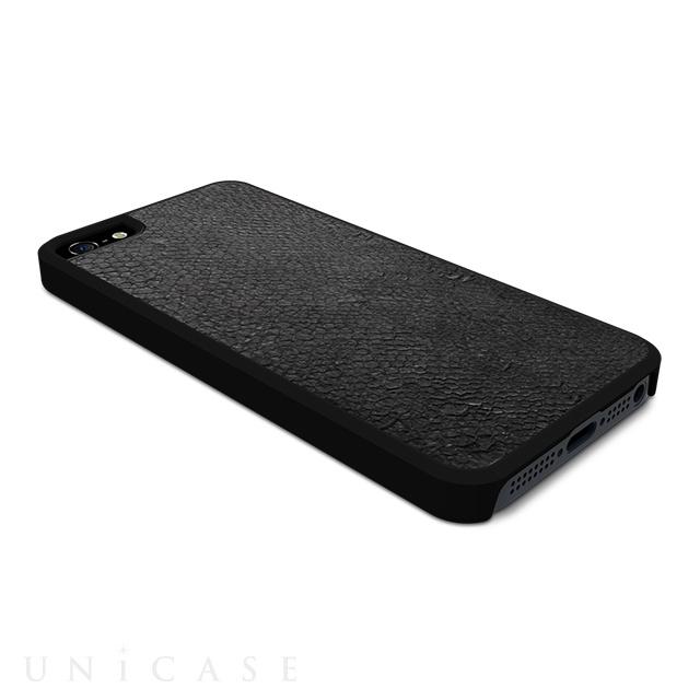 c4deaa7c2dc3 ... 【iPhone5s/5 ケース】動物皮モンスターケース Monster-Salmon ブラック ...