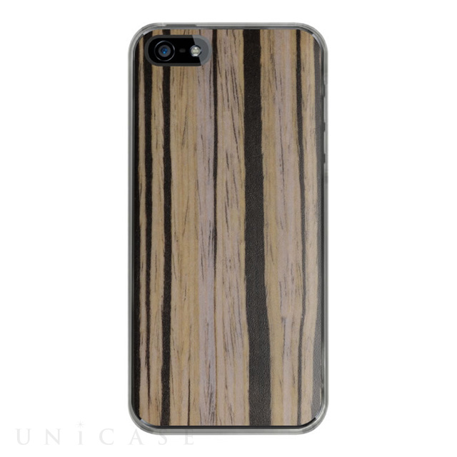 【iPhoneSE/5s/5 ケース】IC-COVER Wood (木目調ゴールデンケーン)