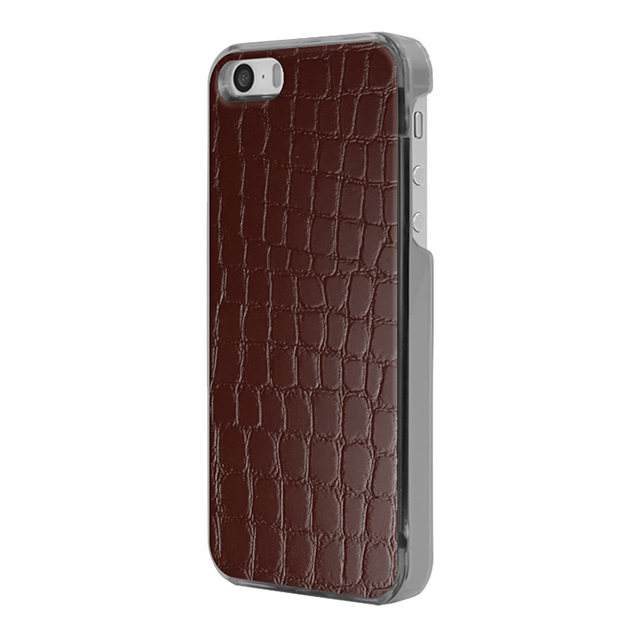 【iPhoneSE/5s/5 ケース】IC-COVER Leather (レザー調ワインレッド)