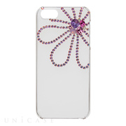【iPhoneSE/5s/5 ケース】Bijou Flower ~Point~ Pink