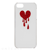 【iPhoneSE/5s/5 ケース】Bijou Melt Heart ~Point~ Red