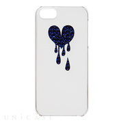 【iPhoneSE/5s/5 ケース】Bijou Melt Heart ~Point~ Navy