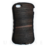 【iPhoneSE/5s/5 ケース】WOOD SKIN CASE Ebony